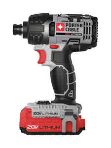 Porter Cable  20 volts 1/4 in. Hex  Cordless  Impact Driver  Kit 2900 rpm 1495 ft./lbs. 3100 ipm