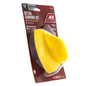 Ace  5 in. L x 3-1/2 in. W Sanding Block  Assorted