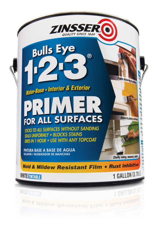 Zinsser  Bulls Eye 123  White  Primer and Sealer  1 gal.