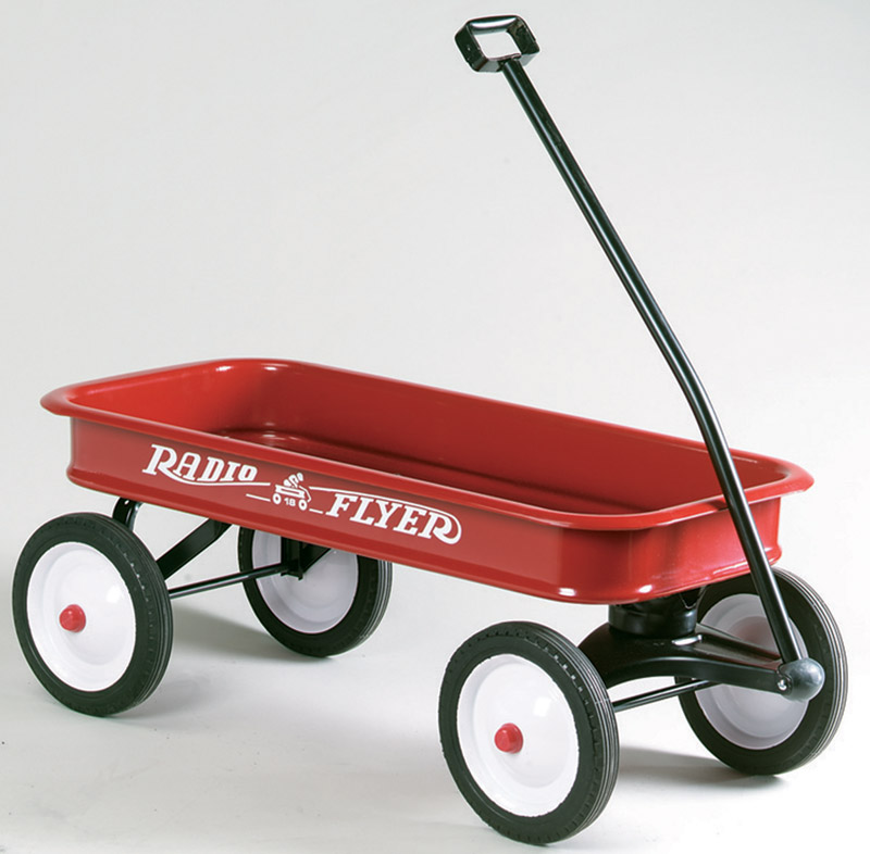Radio Flyer Classic Red Wagon 36 in. x 17-1/2 in. x 4-1/2 in. Ages 2 Rubber, Steel