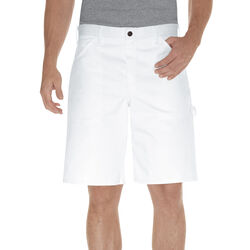 Dickies Men's Painter's Shorts 32 in White
