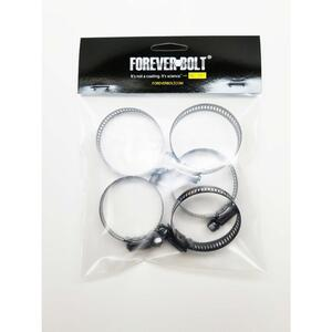 FOREVERBOLT  13/16 in. to 1-1/2 in. SAE 16  Black  Hose Clamp  Stainless Steel  Band