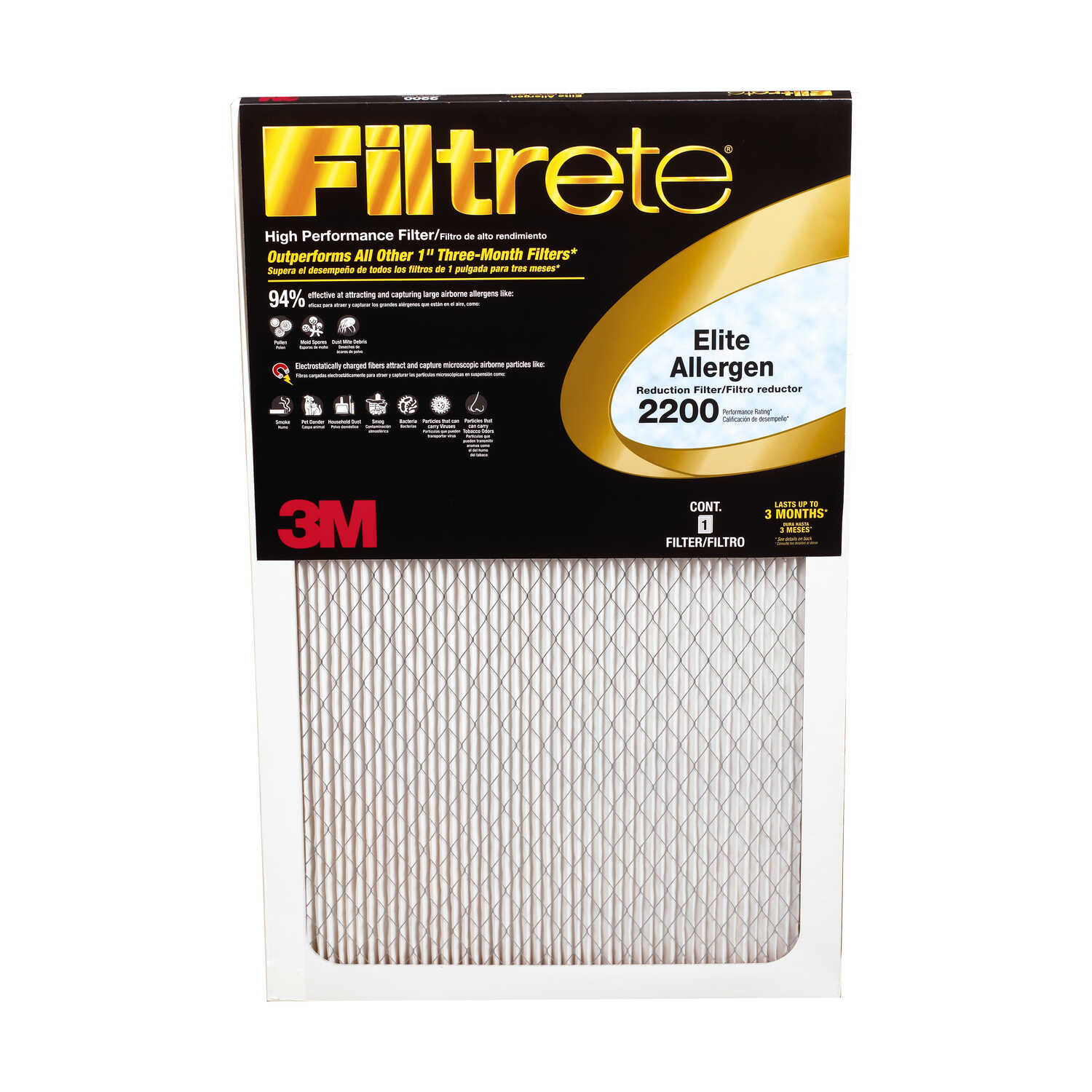 3M  Filtrete  25 in. H x 20 in. W x 1 in. D Air Filter
