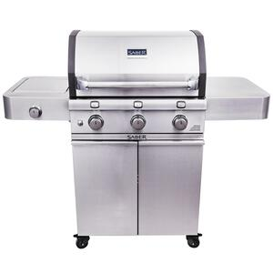 Saber  3 burners Propane  Grill  Stainless Steel  34000 BTU