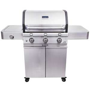 Saber  3 burners Propane  Stainless Steel  Grill  34000 BTU