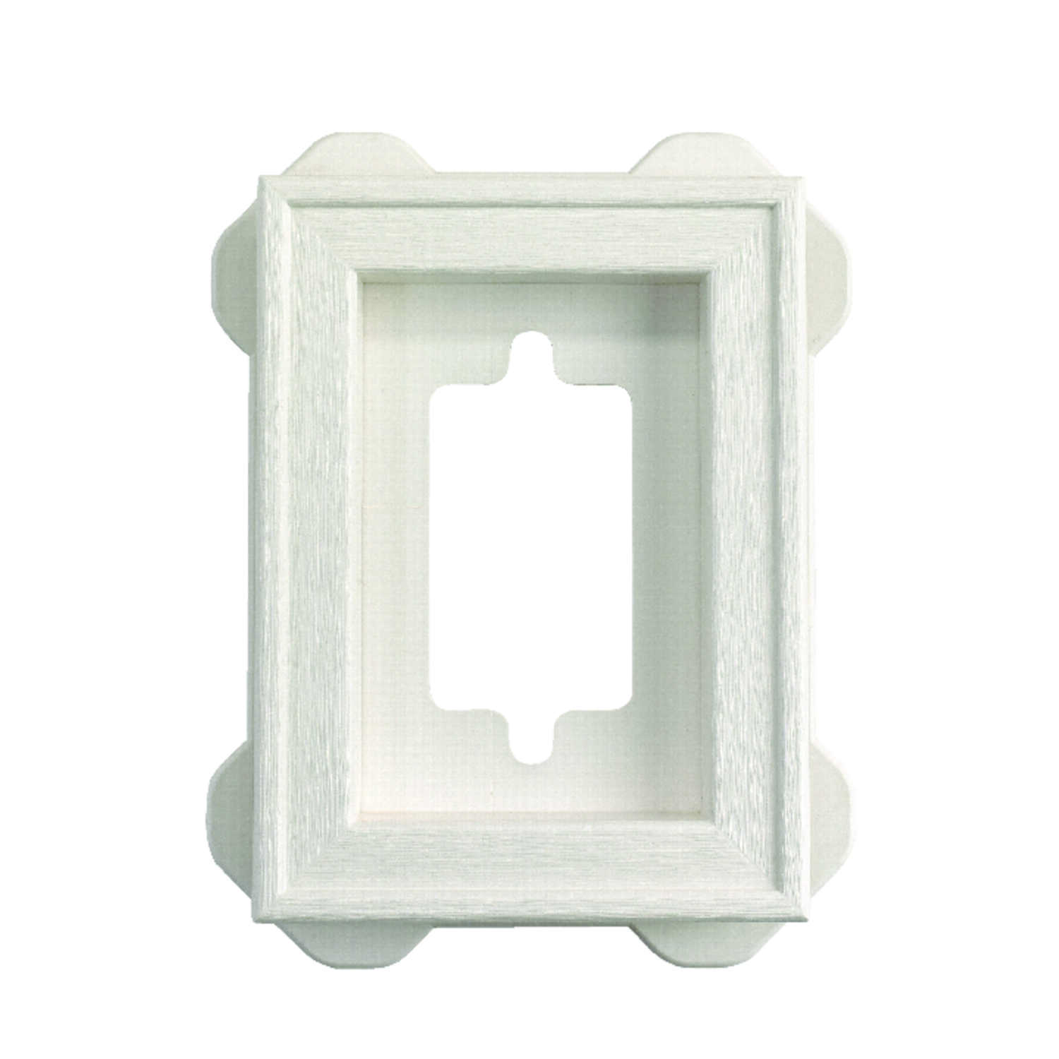 Builders Edge  6-5/16 in. L Prefinished  White  Copolymer  Mounting Block