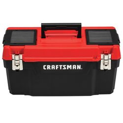 Craftsman  20 in. Plastic  Tool Box  9.7 in. W x 9.75 in. H Black/Red