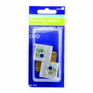 Leviton  Polarized  1 outlets Adapter  2 pk