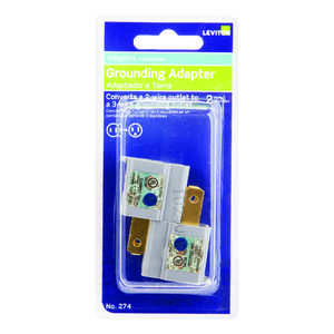 Leviton  Polarized  1  Adapter  Surge Protection 2 pk