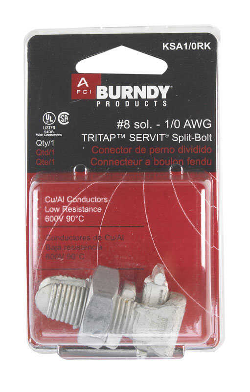 Burndy  Tritap Servit  Split Bolt  Cable Connector  1 pk