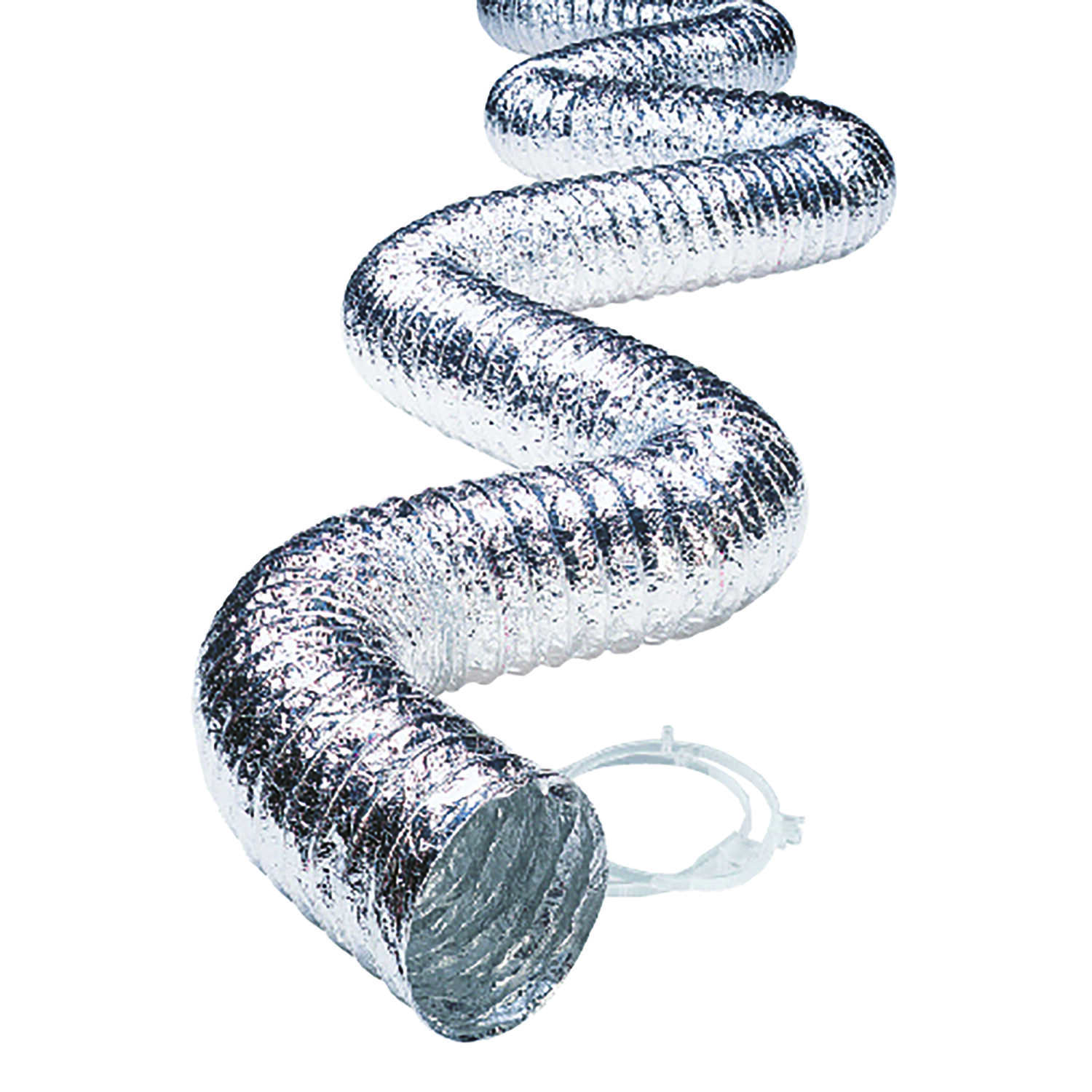 Ace  96 in. L x 4 in. Dia. Silver/White  Aluminum  Dryer Vent Duct