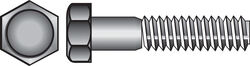 Hillman  1/4 in. Dia. x 1 in. L Zinc Plated  Steel  Hex Bolt  100 pk