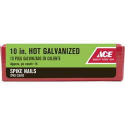 Ace 10 in. Spike Hot-Dipped Galvanized Steel Nail Diamond 5 lb.