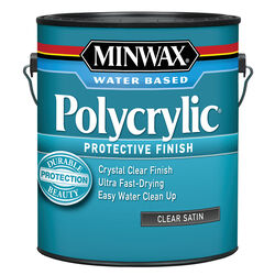 Minwax Satin Clear Polycrylic 1 gal.