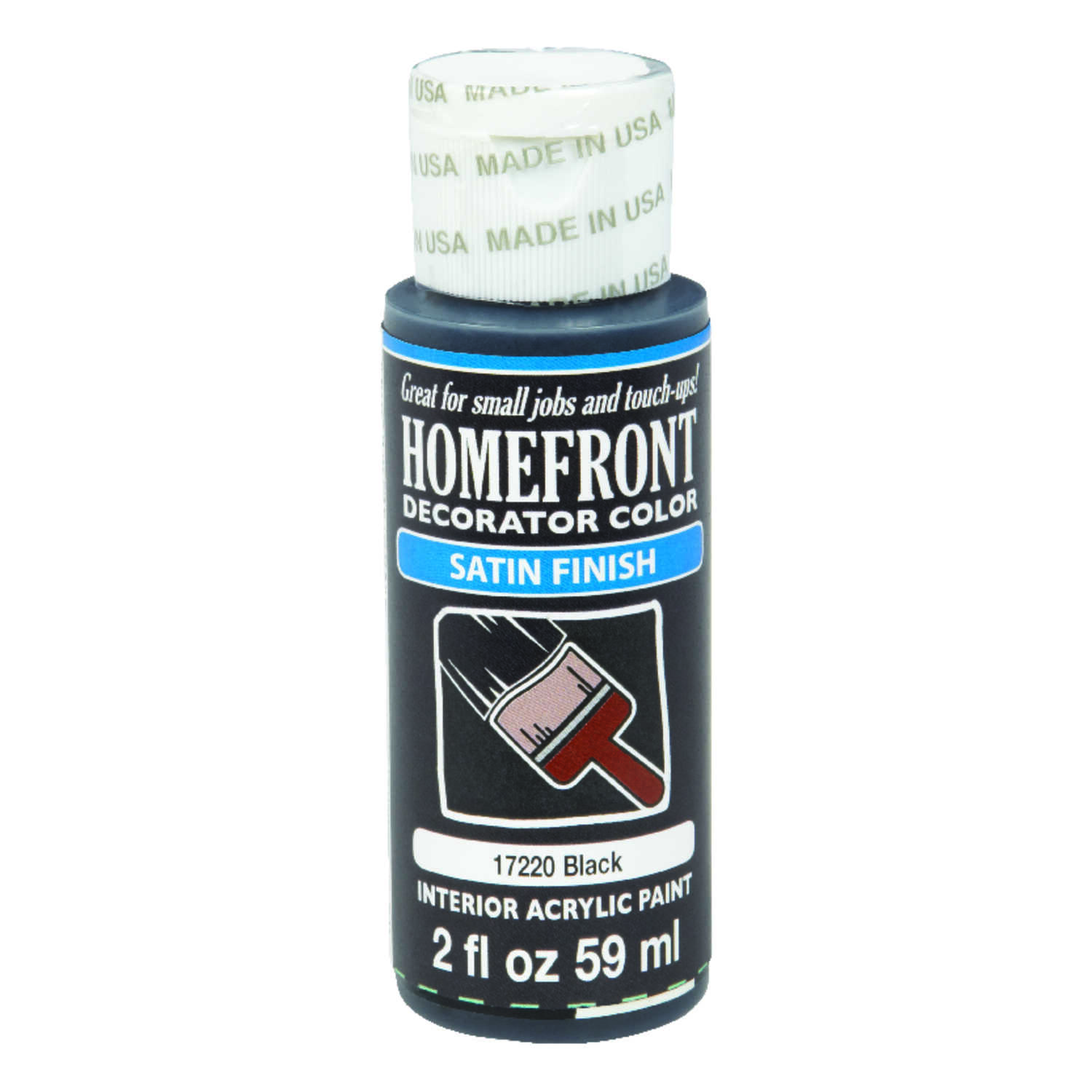 Homefront  Satin  Black  Hobby Paint  2 oz.