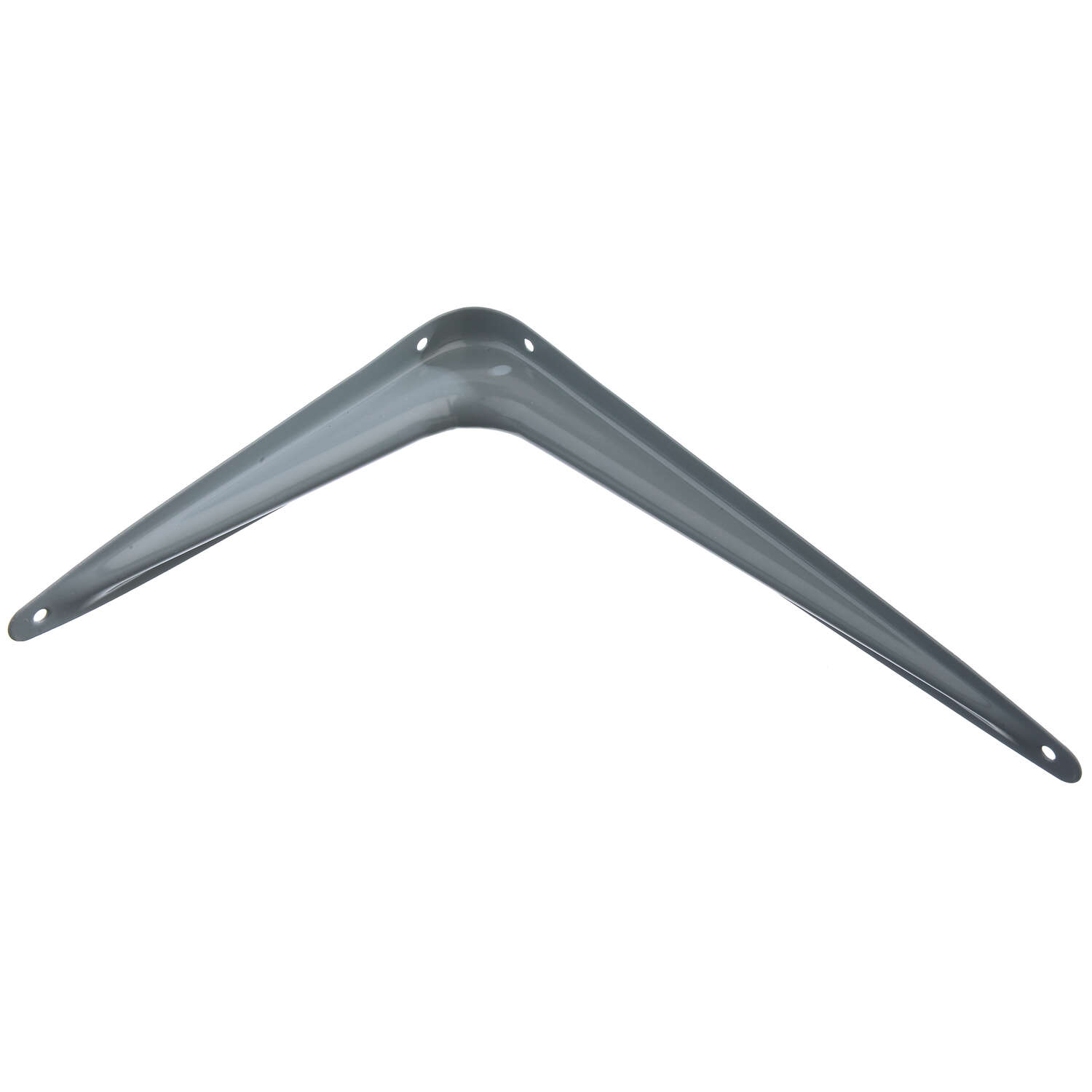 Ace  Gray  Steel  18 Ga. Shelf Support  10 in. H x 1-3/4 in. W x 8 in. L
