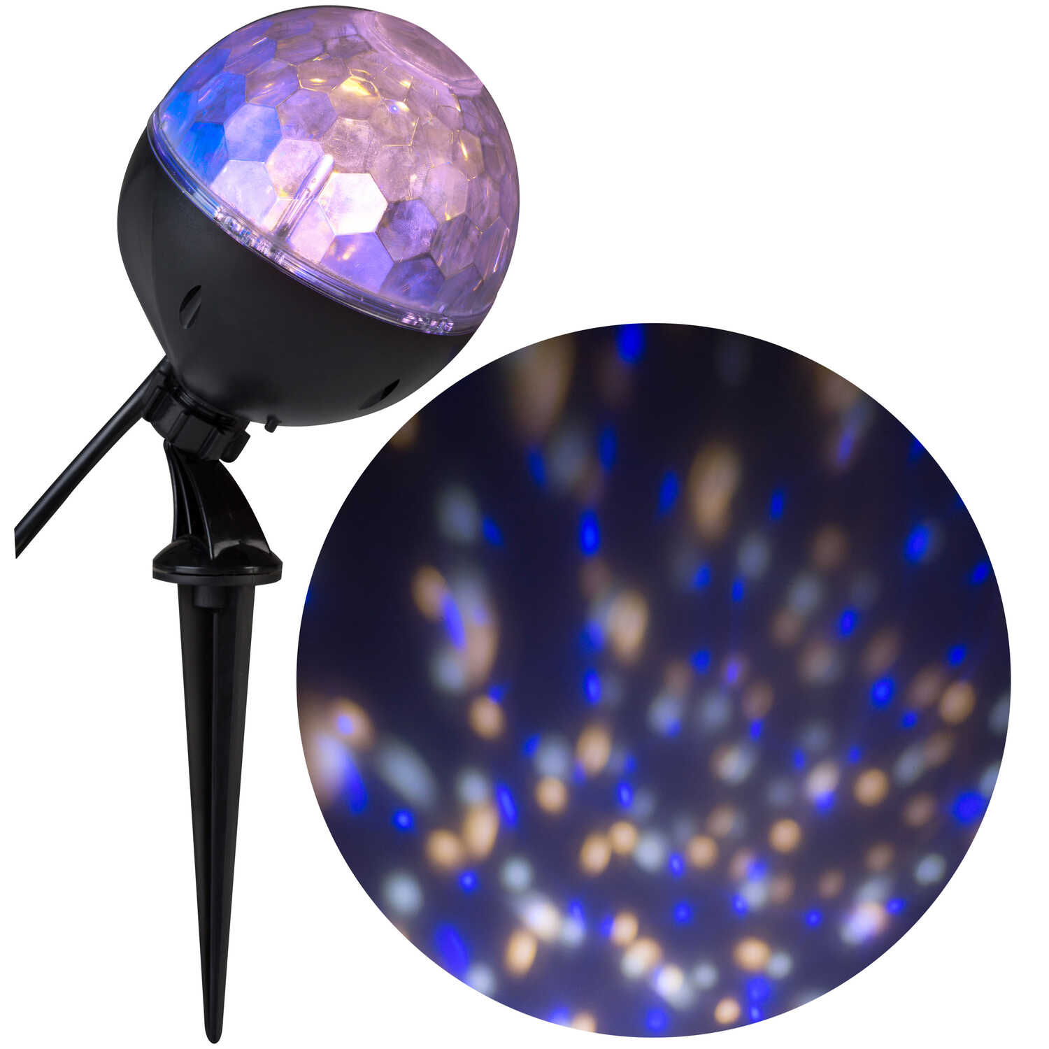 Gemmy  Confetti  LED Projector  Blue  1 pk Plastic