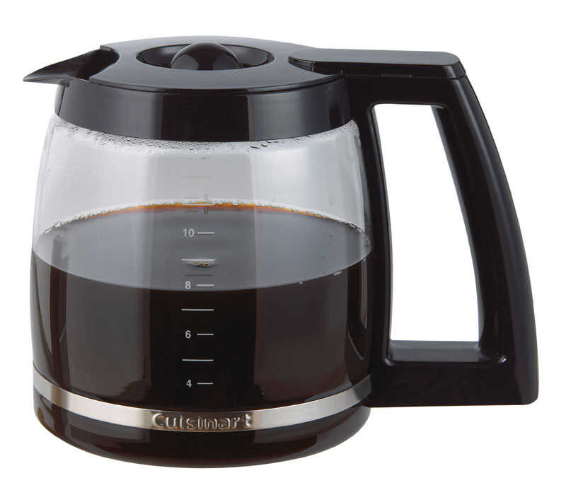 Cuisinart  Black  Glass  Carafe