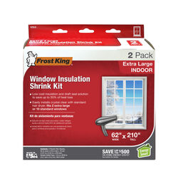 Frost King Clear Shrink Indoor Window Film Insulator Kit 62 in. W x 210 in. L
