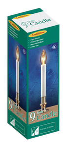 Celebrations  Incandescent  Candle  Clear  1 lights
