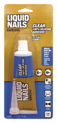 Liquid Nails  Clear Small Projects  High Strength  Silicone  Adhesive  2.5 oz.
