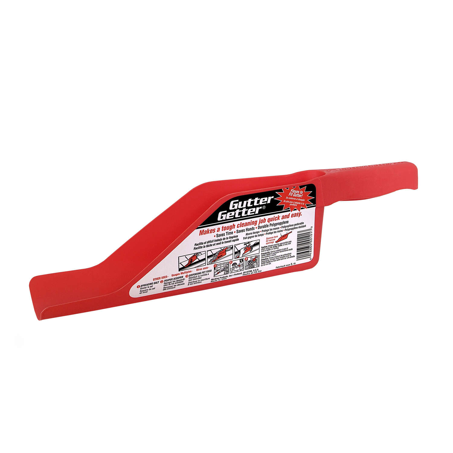 Gutter Getter  Polypropylene  Red  Gutter Scoop