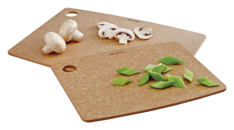 Epicurean  9 in. W x 11.5 in. L Natural  Natural  Wood Fiber  Cutting Board