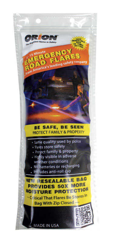 Orion  3 pk Safety Flares