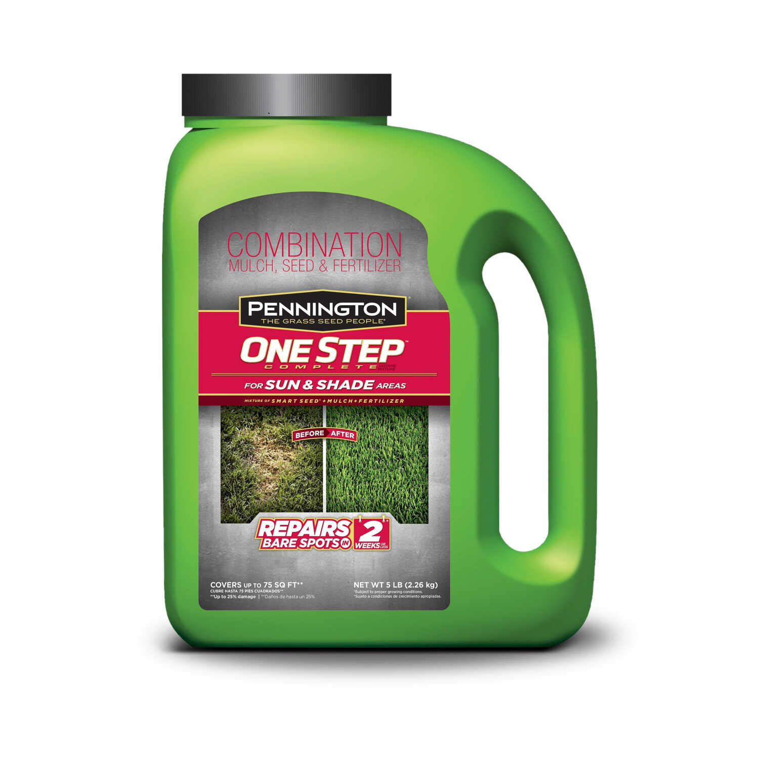 Pennington  One Step Complete  Mixed  Seed, Mulch & Fertilizer  5 lb.
