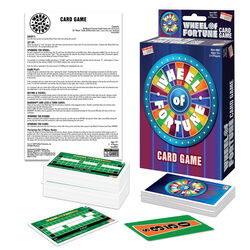 Endless Games  Wheel of Fortune Card Game  Cardboard