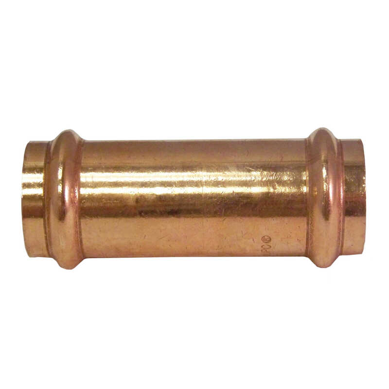 ApolloXpress  1/2 in. CTS   x 1/2 in. Dia. CTS/Press  Copper  Coupling without Stop