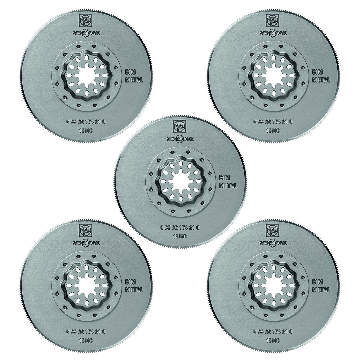Fein Starlock  Multimaster  3-3/8 in.  x 3-3/8 in. L Saw Blades  Bi-Metal  5 pk