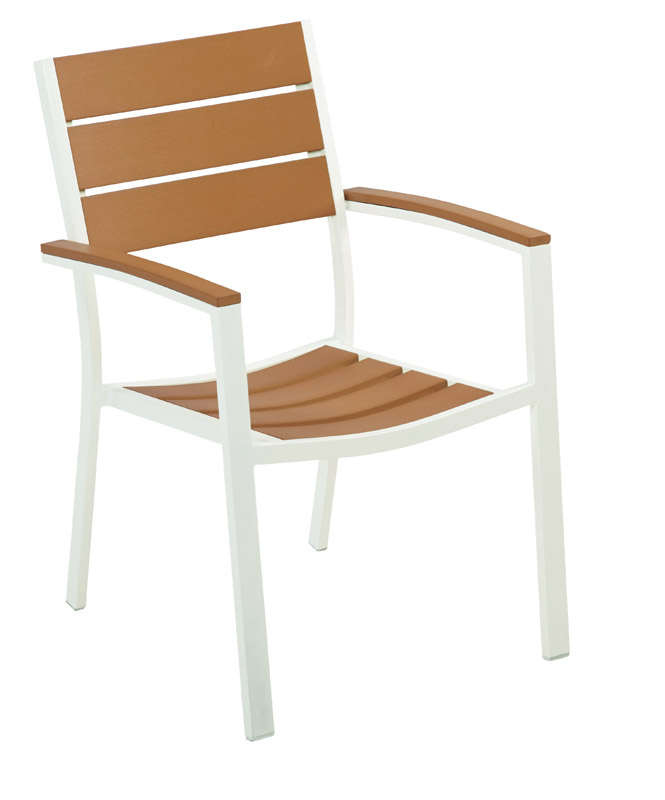 Living Accents  White  Wood  Chair  Tan