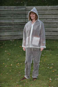Campmaster  Clear  Three Piece Rain Suit  Vinyl