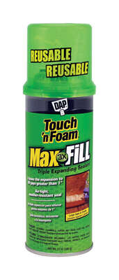 Touch 'n Foam Max Fill Tan Polyurethane Foam Expanding Sealant 12 oz.
