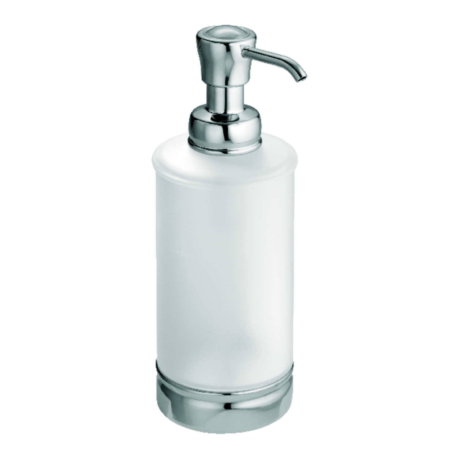 InterDesign  York  Soap Dispenser  7.9 in. H x 3 in. W x 3 in. L Frost  Plastic