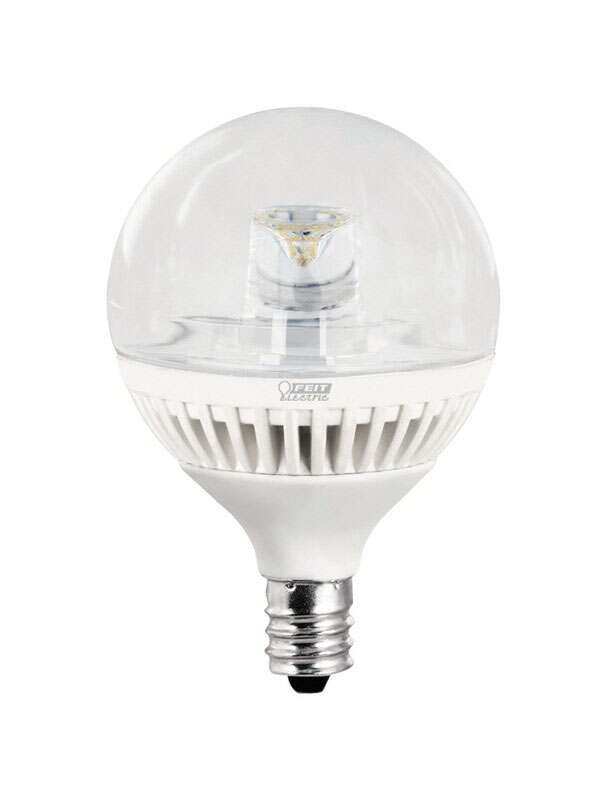 FEIT Electric  4.8 watts G16-1/2  LED Bulb  300 lumens Warm White  Globe  40 Watt Equivalence