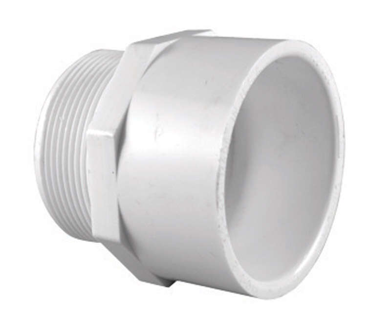 Charlotte Pipe  Schedule 40  1-1/2 in. Slip   x 1-1/2 in. Dia. MPT  PVC  Pipe Adapter
