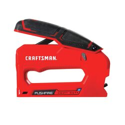 Craftsman Pushfire 9/16 in. Heavy Duty Stapler Black/Red