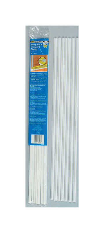M-D Building Products  White  Plastic  Framing Strips  For Window 26 ft. L x 1/2 in.
