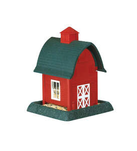 North States  Barn  Wild Bird  1 lb. Plastic  Hopper  4 ports Bird Feeder