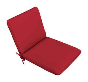 Casual Cushion  Red  Polyester  Seating Cushion  1.5 in. H x 19 in. W x 36 in. L