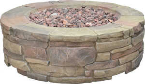 Bond Manufacturing  Petra  Propane  Fire Pit  11 in. H x 36 in. W x 36 in. D Stainless Steel