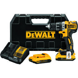 DeWalt  20 volt Brushless  Cordless Compact Drill/Driver  1/2 in. 2000 rpm