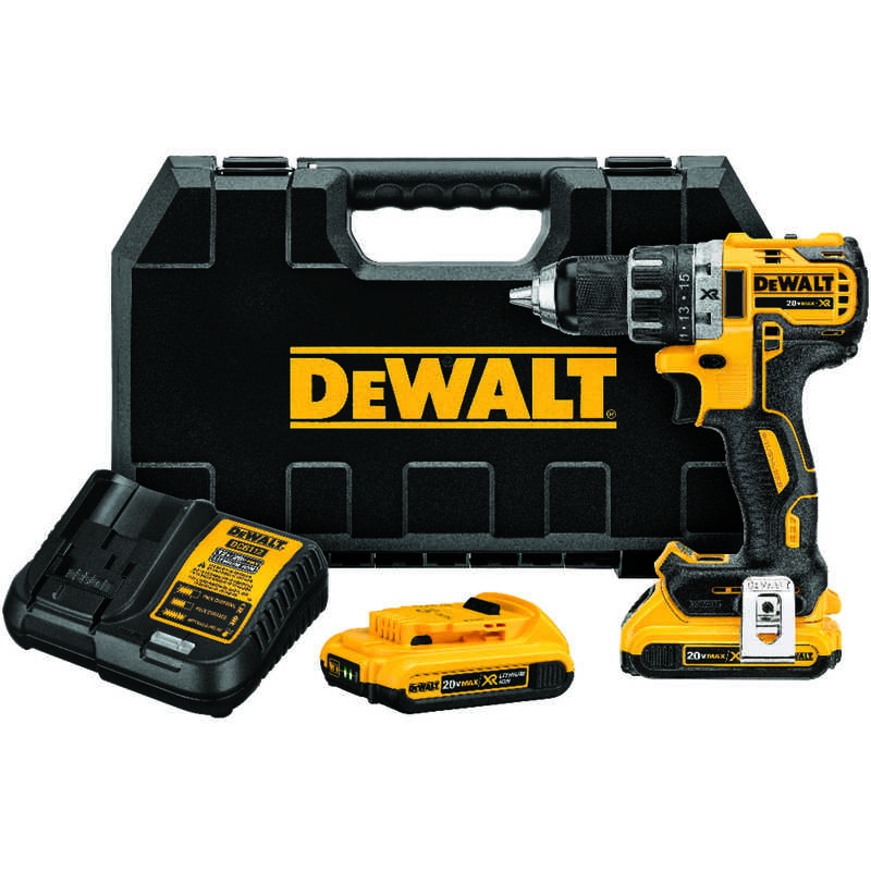 DeWalt  20 volt 1/2 in. Brushless Cordless Compact Drill/Driver  2000 rpm 2