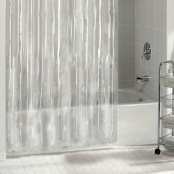 Excell  70 in. H x 72 in. W Clear  Solid  Shower Curtain Liner  Vinyl