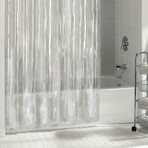 W Solid Shower Curtain Liner Clear