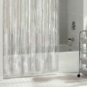 Excell  70 in. H x 72 in. W Clear  Solid  Shower Curtain Liner