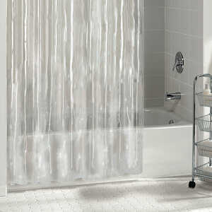 Excell  70 in. H x 72 in. W Solid  Shower Curtain Liner  Clear