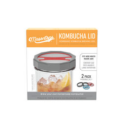 Masontops  Wide Mouth  Kombucha Brewing Lid  2 pk
